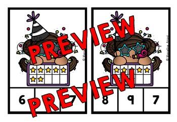 NEW YEAR 2018 ACTIVITY KINDERGARTEN (TEN FRAMES SUBITIZING CARDS TO 10)