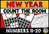 NEW YEAR ACTIVITIES KINDERGARTEN (COUNT THE ROOM NUMBERS 11-20)