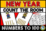 NEW YEAR COUNT THE ROOM WITH BASE TEN BLOCKS (NUMBERS TO 100)