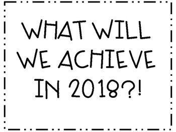 NEW YEAR Goals Math Review