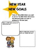 NEW YEAR NEW GOALS Activity