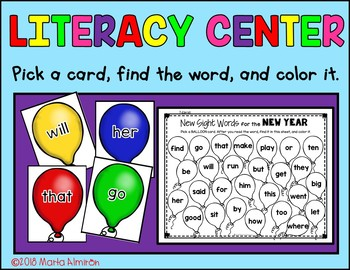 NEW YEAR, NEW SIGHT WORDS {Color by Sight Word and Digital Resource}