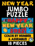 NEW YEARS 2018 ACTIVITY (COLOR BY NUMBER JUMBO PUZZLE)