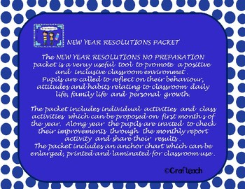 NEW YEAR RESOLUTIONS PACKET