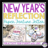 NEW YEARS ACTIVITY: FOLDING A PAPER FORTUNE TELLER