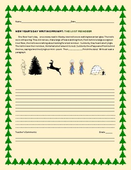 NEW YEAR'S DAY WRITING PROMPT: THE LOST REINDEER