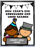 NEW YEAR'S EVE WORDSEARCH AND CROSSWORD