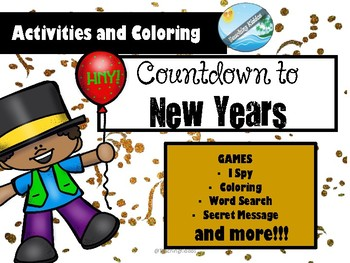 NEW YEAR'S EVE activities and coloring