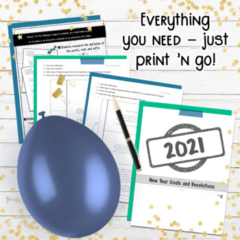 NEW YEAR'S Goals, Resolutions, Activities for Students: BUNDLE 2019 Edition