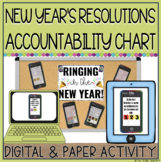 NEW YEAR'S RESOLUTION ACCOUNTABILITY CHART {PAPER OR DIGITAL}