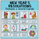 NEW YEAR´S RESOLUTIONS - Picture + Word Cards (ESL/EFL)
