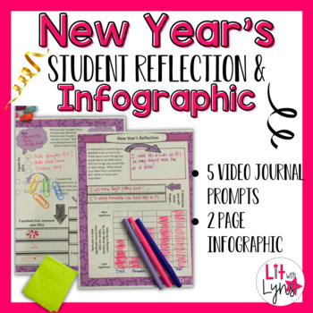 NEW YEAR'S STUDENT REFLECTION- VIDEO JOURNAL PROMPTS & INFOGRAPHIC