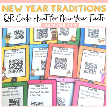 NEW YEAR: TRADITIONS AROUND THE WORLD {QR CODE HUNT}