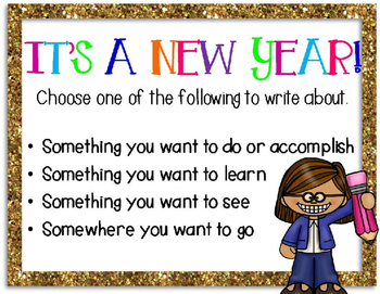 NEW YEAR Writing Choices