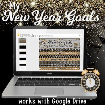 NEW YEARS 2017 Resolutions, Growth Mindset Goal Setting Digital Flipbook
