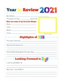 2018 YEAR IN REVIEW, BUNDLE 5 PAGES, NEW YEARS 2019 ACTIVI