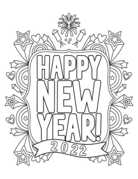NEW YEARS 2018 COLORING, BUNDLE 18 PAGES, NEW YEARS 2018 ACTIVITIES WORKSHEETS