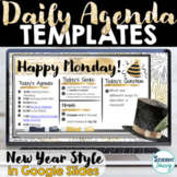 NEW YEARS 2021 Digital Daily Agenda Template | Daily Sched