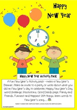 NEW YEARS ACTIVITY PACK - HAPPY NEW YEAR