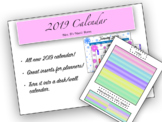 """NEW YEARS BUNDLE!!!!!! 2019 Calendar with """"To Do"""" Inserts!"""