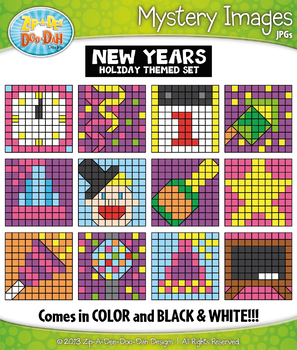 NEW YEARS Mystery Images Clipart {Zip-A-Dee-Doo-Dah Designs}