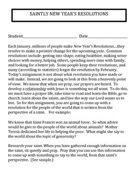 NEW YEAR'S RESOLUTION- SAINT STYLE!!