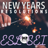 NEW YEARS RESOLUTIONS AND GOALS ELEMENTARY ESL / SEI