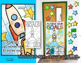 NEW YEARS WRITING, GROWTH MINDSET COLLABORATIVE DOOR POSTER, 2019 SETTING GOALS
