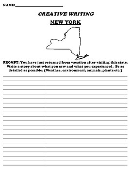 NEW YORK CREATIVE WRITING  DIFFERENTIATED WORKSHEET