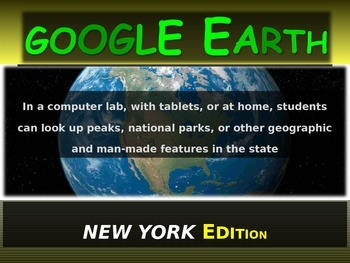 """NEW YORK"" GOOGLE EARTH Engaging Geography Assignment (PPT & Handouts)"