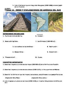 Global History 9th grade (2nd Sem) Study Guide Units 11-20 - SPANISH REGENTS
