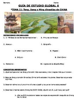 Global History - 9th grade - 2nd Semester - Study Guide (Units 11-20) - SPANISH