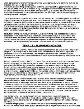 Global History 9th grade (2nd Sem) Reading Guide Units 11-20 - SPANISH REGENTS
