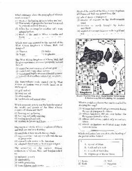 Global History Multiple Choice Quiz Unit 10/40 - REGENTS ALIGNED