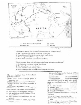 Global History - Multiple Choice Regents Questions Quiz (Unit 10 of 40)