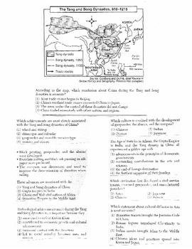 Global History Multiple Choice Quiz Unit 11/40 - REGENTS ALIGNED