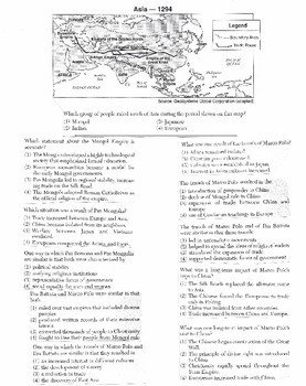 Global History Multiple Choice Quiz Unit 12/40 - REGENTS ALIGNED
