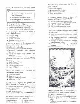 Global History Multiple Choice Quiz Unit 13/40 - REGENTS ALIGNED