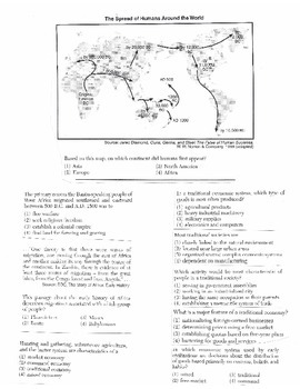 Global History Multiple Choice Quiz Unit 2/40 - REGENTS ALIGNED