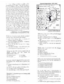Global History Multiple Choice Quiz Unit 26/40 - REGENTS ALIGNED