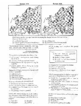 Global History Multiple Choice Quiz Unit 27/40 - REGENTS ALIGNED