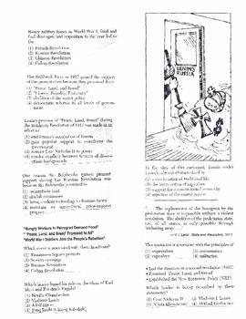 Global History Multiple Choice Quiz Unit 28/40 - REGENTS ALIGNED
