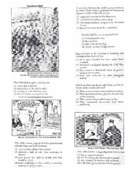 Global History Multiple Choice Quiz Unit 34/40 - REGENTS ALIGNED