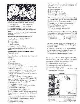 Global History - Multiple Choice Regents Questions Quiz (Unit 38 of 40)