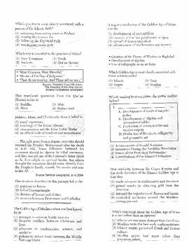 Global History Multiple Choice Quiz Unit 8/40 - REGENTS ALIGNED
