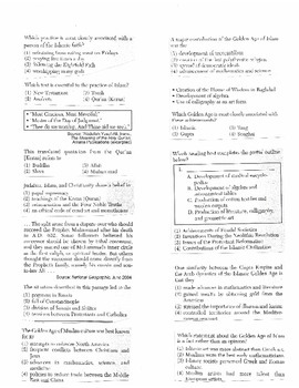 Global History - Multiple Choice Regents Questions Quiz (Unit 8 of 40)