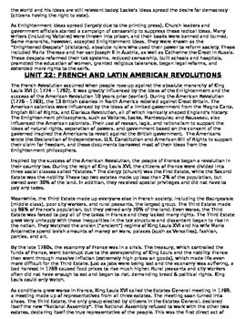 Global History - 10th grade - 1st Semester - Reading Guide (Units 21-30)