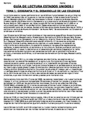 U.S. - Reading Guide - Units 1-20/37 - 11th grade - SPANISH