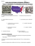 U.S. - Study Guide - Units 1-20/37 - 11th grade - SPANISH