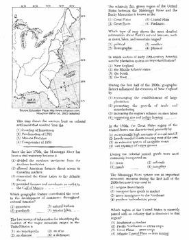 US History - Multiple Choice Regents Questions Quiz (Unit 1 of 37)